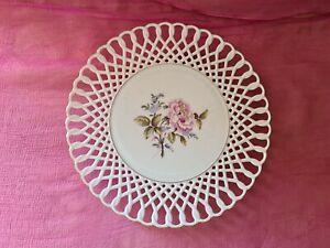 Höchst Porzellan 1 schöner  Teller mit Durchbruchdekor D 21,8 cm Top
