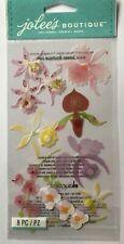 Jolee's Boutique Colorful Orchids Dimensional Vellum Stickers