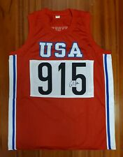 Carl Lewis Autographed Signed Jersey USA Team Track Olympics JSA