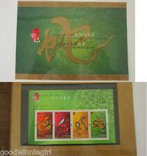 Hong Kong 2001 Year of The Snake Specimen Souvenir Pack*\