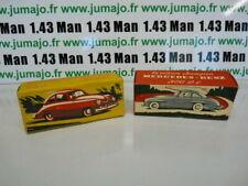 Voiture 1/43 réédition QUIRALU : lot de 2 PORSCHE 356 + Mercedes 300 SL