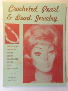 Crocheted Pearl & Beaded Jewelry Vintage 1971 Booklet by James E. Boycan (SM-1)