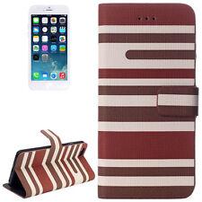 2x Pellicole + Custodia Cover supporto portafogli per iPhone 6 Marrone e Bianca