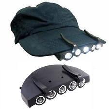 5 LED Head Cap Hat Clip Light Lamp Flashlight For Hunting Fishing Headlamp Usefu