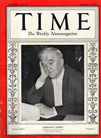 1937 Time January 11 - China Opium and politics; Tacoma kidnapping;Nehru;Albania