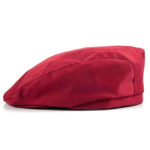 Chef Hat Wine RED Beret cabbie style  design