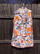 Awesome 1960s flower power mod groovy vintage floral print romper