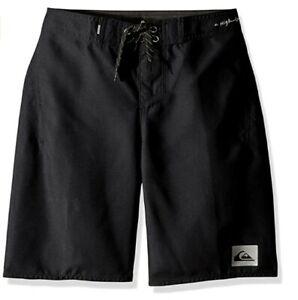 Quiksilver Boys' Big Highline Kaimana Youth  Boardshort Black Size 25/10   1203