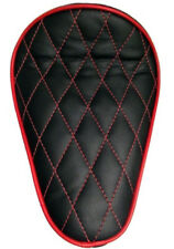 Custom Solo Seat Black & Red Diamond to fit Harley Bobber Chopper Yamaha
