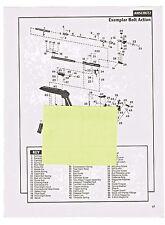 ANSCHUTZ EXEMPLAR, ARMINEX TRIFIRE PISTOLS  EXPLODED VIEWS & PARTS LIST 1992 AD