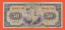 BRD 50 Mark 1948  Erhaltung 3- /  VF- Banknote  Ro. 242 WBZ - 7 /  P7a ( 423