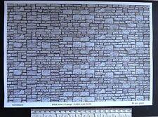 O gauge (1:48 scale) block stone paper - A4 sheet (297 x 210 mm)