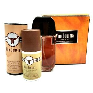 Wild Country Men's Cologne Spray 75g Deodorant Talc 50ml Roll-On Anti-Perspirant