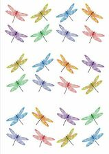 24 X EXOTIC DRAGONFLY EDIBLE CUPCAKE TOPPERS CAKE RICE PAPER WAFER M15