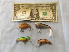 Rebel (3) and Un-named (1) - Fishing Lures - Lot of Four