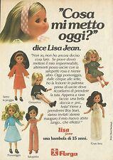 X4908 FURGA - Lisa Jean una bambola di 15 anni - Pubblicità 1976 - Advertising