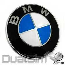 Emblem 82mm Motorhaube Heckklappe für BMW Kunststoff 2 Pin Schwarz Blau Weiß