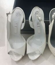 dfadc8c74d716 Gina White Pyton High Heel  Wore Once  bridal  With Dust Bag And Box