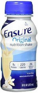 Ensure Regular Vanilla Liquid, 8 Ounce Bottle, 6 Count