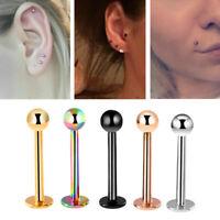 Mixed 8PCS 16G Stainless Steel Helix Piercing Jewelry Ear Eyebrow Nose Lip TT $T