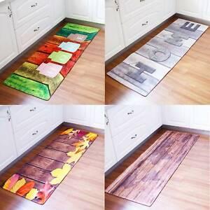 Non-Slip Kitchen Floor Mat Washable Machine  Rug Door Large Runner Hallway Carpe