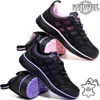 Ladies Lightweight Safety Steel Toe Cap Work Ankle Hiking Boots Trainers Shoes