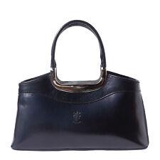 Handbag Bag Italian Genuine Leather Hand made in Italy Florence 200 bk