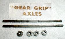 "3"" Precision Ground Black Harden Axles (2 Axles & 4 Nuts) 1/8"" Steel Axles"