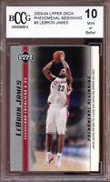 2003-04 Upper Deck Phenomenal Beginning #3 LeBron James Rookie BGS BCCG 10 Mint+