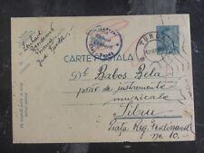 1941 Turda Romania Maxi Postcard Censored Cover To Sibiu Romania