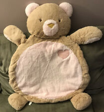 Bestever Pink Bear Baby Infant Tummy Time Play Mat - Washable - So Soft!