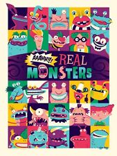 "Mondo Poster Print  ""A Nickelodeon Show"" Limited Aaahh Real Monsters Prints"
