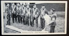 Royal Air Force  Parachute Training   Manston  Vintage 1930's Photo Card  VGC