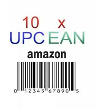 10 x UPC EAN Code Numbers Barcodes Bar Code for Amazon GS1 ECommerce AU US EU