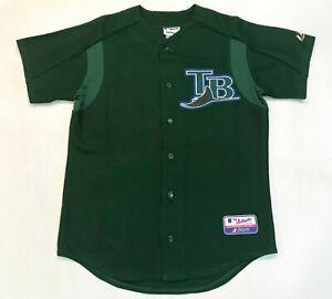 Majestic Authentic MLB 2004 Tampa Bay Devil Rays ROMANO #8 Jersey Green 44 Sz