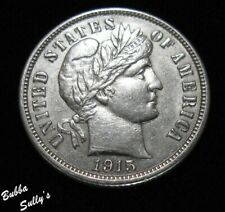 New listing 1915 Barber Dime <> About Uncirculated +