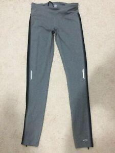 Champion DuoDry gray Black Leggings Size Small Zip ankle phone pocket