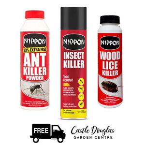 Vitax Nippon | Insect Total Control Aerosol Spray | Ant / Woodlice Killer Powder