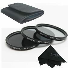 RISE(UK) Neutral Density 52mm ND2 ND4 ND8 Filter Pouch For Nikon D5200 D3200
