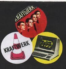 3 KRAFTWERK  BADGES. Man Machine, Computer World.