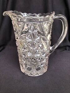 EAPG Daisy & Button w/ V Mark Crystal Water Pitcher