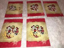Lot Of 5 Disney Christmas Holiday Cards Mickey Minnie Pluto