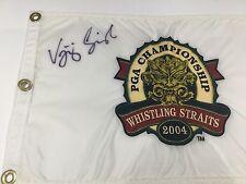 Vijay Singh signed 2004 PGA embroidered golf flag  PSA/DNA