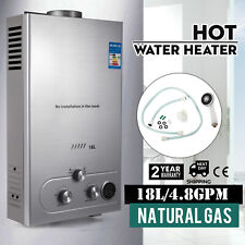 18L Hot Water Heater Natural Gas 5GPM On-Demand Tankless Instant Boiler