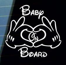 Mickey Baby on Board car van window sticker many colours VW jdm