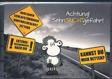 96000 / Sheepworld Postkarte Sehnsuchtgefahr
