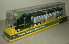 1/64 Scale John Deere Hauler Semi Truck Grain Trailer Diecast Model - Tomy 37382