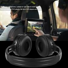 Wireless Infrared IR Headphones 2-Channel Stereo Headset For Car DVD Player Y2L3