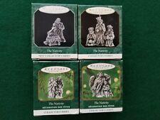 Hallmark miniature ornament set - The Nativity series in pewter