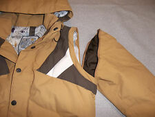BURTON SKI SNOW JACKET HELSINKI 3in1 ZIP OFF VEST INSULATED HOOD BRN WOMEN'S S